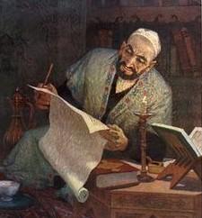 Mehmud Kashgari studying